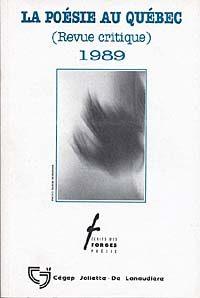 La poésie au Québec 1989