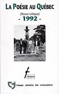 La poésie au Québec - 1992 -