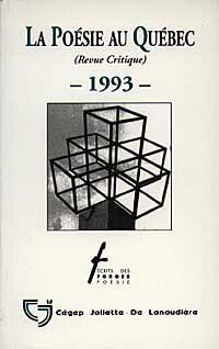 La poésie au Québec - 1993 -